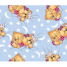 КПБ Бязь Kids (Сонные мишки на голубом)