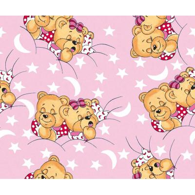 КПБ Бязь Kids (Сонные мишки на розовом)