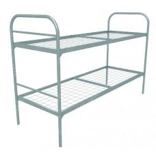 Кровать металлическая двухъярусная Бюджет +